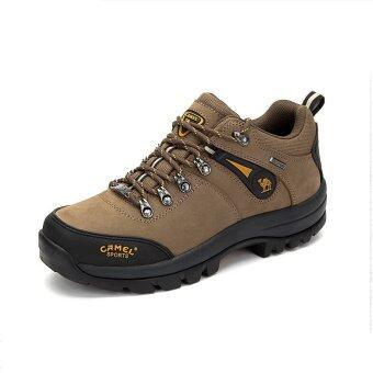 คนขี่อูฐเดินป่ารองเท้ากันน้ำแบบกลางแจ้งอย่างใหม่รองเท้าเดินป่า (สีน้ำตาล)
