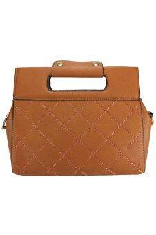 PhoeBe Bags กระเป๋าถือ กระเป๋าแฟชั่น สายสะพายถอดแยกได้ รุ่น PhoeBe Handbags 066 (สีน้ำตาล)