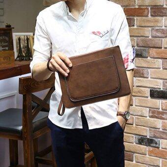 B'nana Beauty กระเป๋าสะพายข้างผู้ชาย กระเป๋าถือผู้ชาย กระเป๋าผู้ชาย รุ่น Bnew-2 (กระเป๋าถือหนังกลับ)