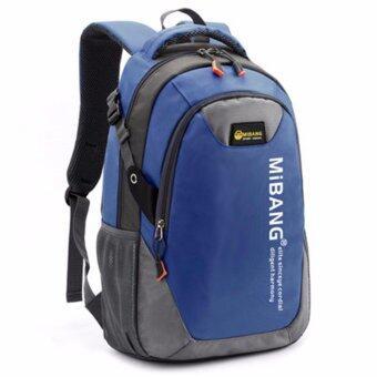 Peimm Modello Backpack 43 Cm.MiB กระเป๋าเป้สะพายหลัง กันน้ำ สไตส์เกาหลี (สีกรมท่า)