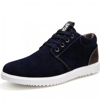 Harga PINSV Men's Breathable Casual Sneakers Canvas Shoes (Navy) (Intl)
