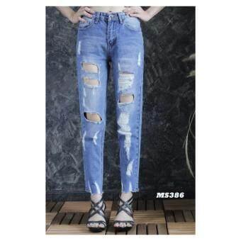platinum fashion กางเกงยีนส์ขายาว สินค้านำเข้า เนื้อผ้า สีสวย รุ่นPMS386