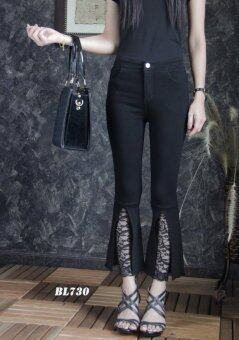 Platinum Fashion กางเกงยีนส์ขายาวเอวสูง ขาม้า รุ่นBL730