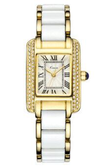 Kimio นาฬิกาข้อมือผู้หญิง สีขาว/ทอง สาย Alloy รุ่น KW6036
