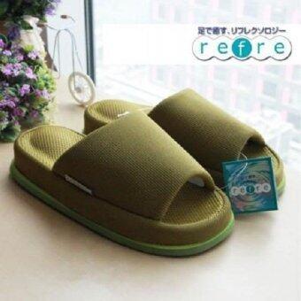 Refre รองเท้าแตะเพื่อสุขภาพ สไตร์ญี่ปุ่น (ไซร์ L สีเขียวเข้ม สำหรับสุภาพบุรุษ)