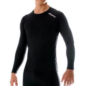 FITSUITS เสื้อแขนยาว กระชับกล้ามเนื้อ รัดกล้ามเนื้อ SPORTS COMPRESSION ชุดกีฬา ออกกำลังกาย ว่ายน้ำ วิ่ง ฟิตเนส ฟุตบอล รุ่น ORIGINAL FS-S001 สีดำ BLACK