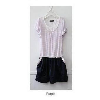 ชุด เสื้อ+กระโปรง เสื้อแขนระบาย ผ้า