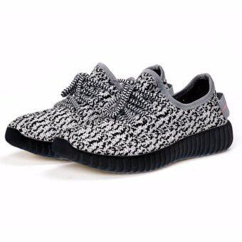 Moniga-Moniga รองเท้าผ้าใบอย่างดี Molly สีเทาพื้นดำ