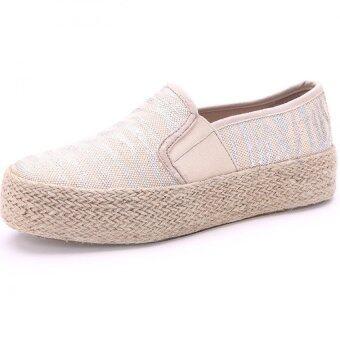 ภาพลวงตาการออกแบบแฟชั่นไม้เท้าเอาแบบคุณภาพสูง Loafers รองเท้าเพิ่มขึ้น