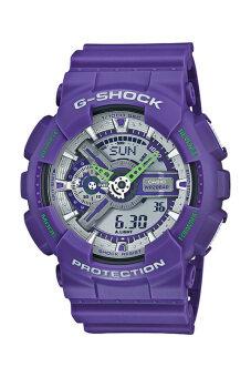 Casio G-Shock ผู้ชายสีม่วงรัดยางนาฬิกา GA-110DN-6A