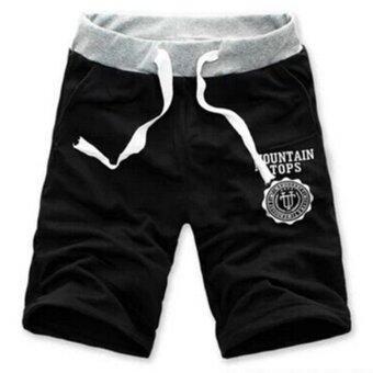 Allwin ฤดูใหม่ห้าคนสวมกางเกงขาสั้นลำลองกางเกงกีฬาชายหาดย่อยเอวคลาสสิคสีดำ