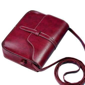 กระเป๋าเงินหนัง Coconiey วินเทจข้ามไหล่กระเป๋าร่างกายสารสีแดงจัดส่งฟรี