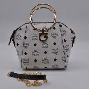 กระเป๋าถือหรือสะพายข้างผู้หญิง NM912 สีขาว