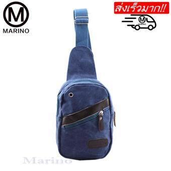 MARINO กระเป๋า กระเป๋าสะพายข้าง กระเป๋าสะพายข้างสำหรับผู้ชาย รุ่น 0164 - D.Blue
