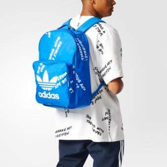 Adidas กระเป๋าสะพาย Classic Graphic Backpack Blue Color ขนาด30x44x16cm.