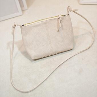 กระเป๋าหนัง Pu สารแอลวีมินิกระเป๋าสะพาย (ขาว)