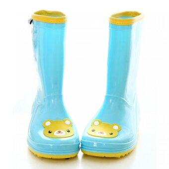 DMALL BEST Fashion ฝน รองเท้า Wellies boots Waterproof Cute Children boots Blue (Intl)