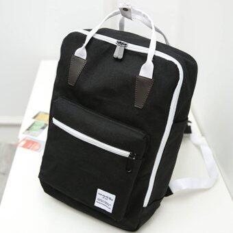 Little Bag กระเป๋าเป้สะพายหลัง กระเป๋าเป้เกาหลี กระเป๋าสะพายหลังผู้หญิง backpack women รุ่น LP-090 (สีดำ)