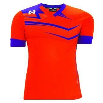 WARRIX SPORT เสื้อฟุตบอลพิมพ์ลาย WA-1514 (สีส้ม-ม่วง)