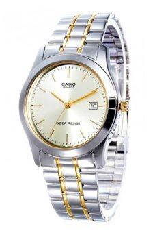 Casio Standard นาฬิกาข้อมือผู้ชาย สายแสตนเลส รุ่น MTP-1141G-9A - Silver/White