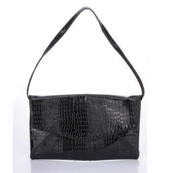 Premium Bag กระเป๋าแฟชั่น กระเป๋าถือ กระเป๋า clutch รุ่น PB-007(สีดำ)