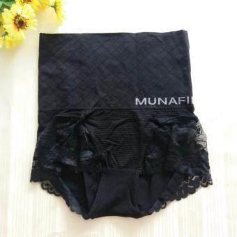 MUNAFIE กางเกงใน กระชับสัดส่วน ลดพุง เก็บหน้าท้อง (สีดำ) - 1 ตัว