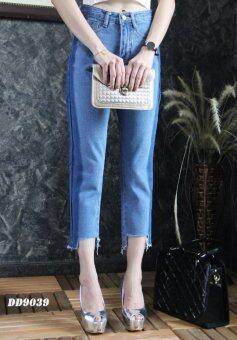 Platinum Fashion กางเกงยีนส์ขายาวเอวสูง ทรงบอย รุ่นDD9039