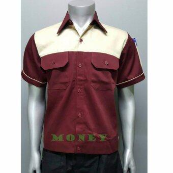 เสื้อช่าง แขนสั้น เสื้อช่างยนต์ เสื้อช่างไฟ Size M รอบอก 42 นิ้ว