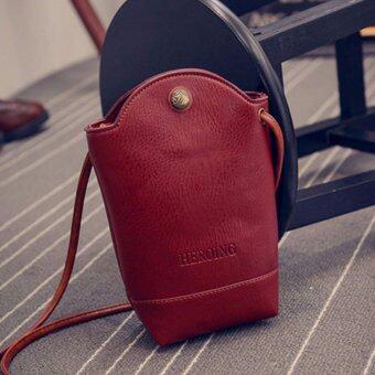 MATTEO กระเป๋าสะพาย กระเป๋าโทรศัพท์ ผู้หญิง HEROING สีแดง