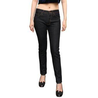 Golden Zebra Jeans กางเกงยีนส์หญิงผ้ายืดเนื้อนิ่ม ขาเดฟสีนํ้าเงิน