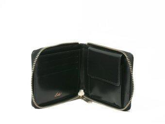 PARAGON ZIPPED WALLET กระเป๋าสตางค์ซิป แบบสั้น - ดำ