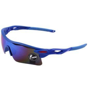 Sanwood จักรยานกีฬาการป้องกันยูวีแว่นตากันแดดสีน้ำเงิน