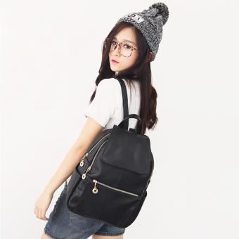 Little Bag กระเป๋าเป้สะพายหลัง กระเป๋าเป้เกาหลี กระเป๋าสะพายหลังผู้หญิง backpack women รุ่น LP-065 (สีดำ)
