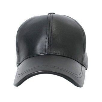 Gracefulvara มนุษย์เพศหญิงกีฬากอล์ฟหมวกเบสบอลหนังปรับได้ใส่หมวก (สีดำ)