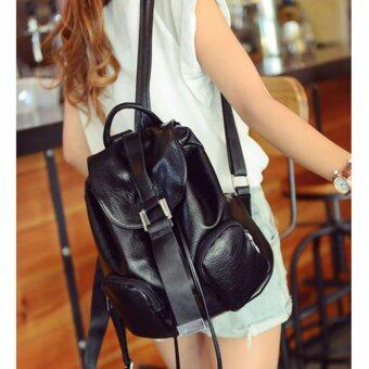 B'nana Beauty กระเป๋าเป้สะพายหลัง กระเป๋าเป้เกาหลี กระเป๋าสะพายหลังผู้หญิง backpack women รุ่น GB-17 (สีดำ)