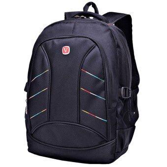 Nifty Well กระเป๋าเป้สะพายหลัง กระเป๋าเป้ backpack กระเป๋าใส่โน๊ตบุ๊ค กระเป๋าเดินทาง กระเป๋าเป้สไตล์วัยรุ่น ( สีดำ )