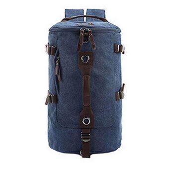 TR01-Blue กระเป๋าเป้เดินทาง ผู้ชาย สีน้ำเงิน กระเป๋าสะพายหลัง เป้สะพายหลัง