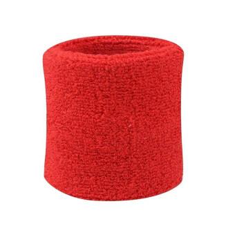 2ชิ้นห้องออกกำลังกายสนามเทนนิสสควอชแร็กเกตแบดมินตันฟุตบอลสายรัดข้อมือข้อวงสีแดง