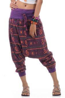 Princess of asia กางเกงแม้ว ฮิปปี้ โบฮีเมียน (สีม่วง)