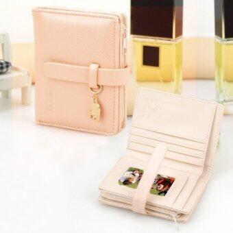 2559 Happycat ร้อน! นิวแฟชั่นน่ารักสตรีสตรีกระเป๋าสตางค์กระเป๋าถือหนังเทียมกระเป๋าคลัตช์ขนาดสั้นที่เก็บบัตร 5 สีมีเรือใบ 1_P
