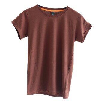 Chahom เสื้อยืดคอกลม (สีน้ำตาล)