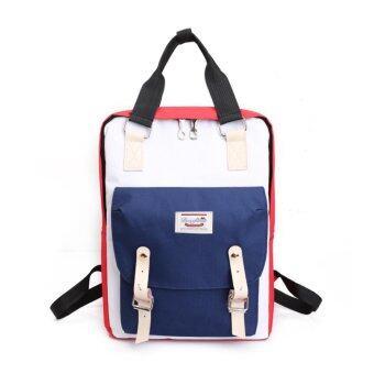 Marverlous กระเป๋า กระเป๋าเป้ กระเป๋าเป้สะพายหลัง NEW Fashion Backpack TTQ-สีแดง&สีน้ำเงิน