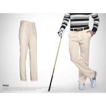 EXCEED กางเกงกอล์ฟสำหรับสุภาพบุรุษ PGM สีกากี (KUZ005) Genuine Top Design Golf Pants Ultra Thin Men Summer Slim Fashion Trousers (KHAKI)