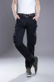 ชายเป็นคนตรงไปตรงมา Hotyv คลาสสิคสินค้าทหารลำลองกางเกง HPT036 สีดำ