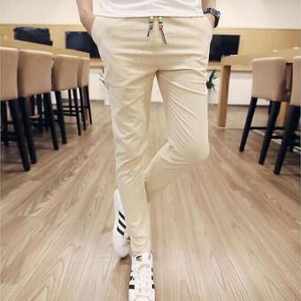 กางเกงแฟชั่นบุรุษจ็อกกิงกลางแจ้งผ้ากางเกงลำลองมากขนาดกางเกงกางเกงเกาหลีคานกากี
