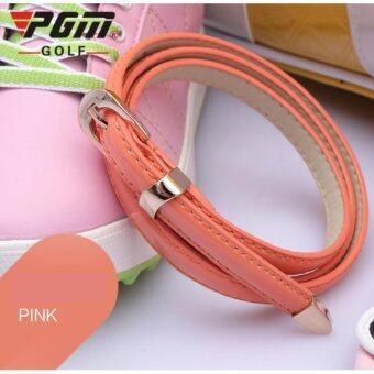 EXCEED LADY GOLF BELT PINK COLOUR เข็มขัดหนังนักกอล์ฟผู้หญิง PGM (PD008) สีชมพูอ่อน