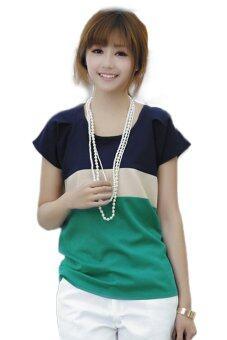 ชีฟอง Fancyqube เสื้อยืดสีเขียว