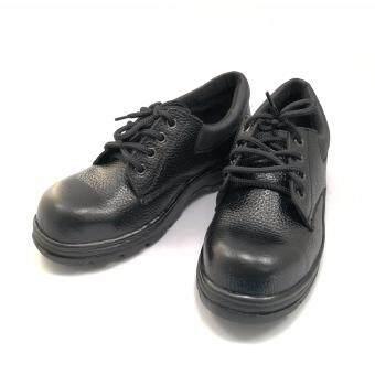 รองเท้าเซฟตี้ รองเท้านิรภัย รองเท้าหัวเหล็ก หนังลาย (PU Leather)