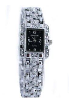 Bluelans หุบเขาผีเสื้อหญิงเงินนาฬิกาข้อมือสเตนเลสคล้ายคลึง