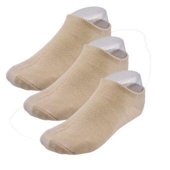 ถุงเท้าข้อสั้น ชาย - หญิง แพ็ค 3 คู่ ผ้าคอตตอนอย่างดี ใส่สบาย เหมาะกับอากาศร้อน